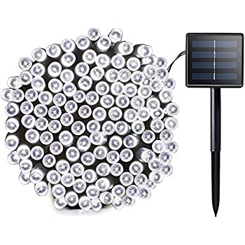 solar string lights 72ft 200 led lights ambiance lights for outdoor patio lawn garden