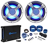 (2) NYC Acoustics NC12S4 3200 Watt 12'' LED Car Subwoofers+Mono Amplifier+Amp Kit