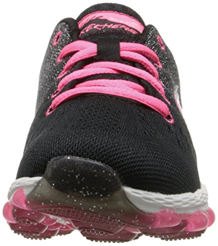 clearance fashionable cheap sale low price Skechers Girls' Skech Air Ultra-Glitterbeam Low-Top Sneakers Black/Neon Pink Manchester for sale duQ1104sl