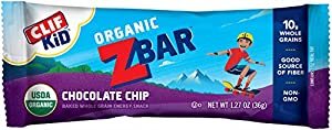 Clif Kid Zbar 191805 Organic Energy Bar, Chocolate Chip 1.27 oz (18 Bars)