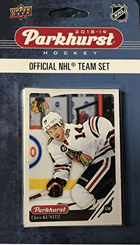 (Chicago Blackhawks 2018 2019 Upper Deck PARKHURST Series Factory Sealed 10 Card Team Set Including Patrick Kane, Corey Crawford, Jonathan Toews and 7 Others)