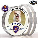 Dog Flea Treatment Collar - HKCP Flea and Tick Collar for Dogs and Cat- 16 Months Protection - Ultraguard Plus Flea &Tick Dog Collar Waterproof Dog Collar - Flea Treatment Tick Prevention with Natural Essential Oil- 2 packs