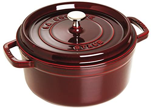 Staub 5 1 2-Qt. Round Dutch Oven Color Grenadine