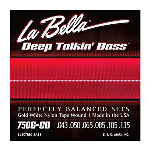 La Bella Gold White Nylon Tape Wound Light 43-135 6 String Bass ()
