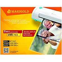 Marigold 105-Count Pack 5 mil Letter Size, 9x11.5, Thermal Laminating Pouches Laminator Film Sheets for Laminator Machine (TLP5LTR)