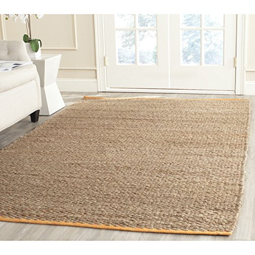 Safavieh Cape Cod Collection CAP811D Hand Woven Spring Jute and Cotton Area Rug (8' x 10')