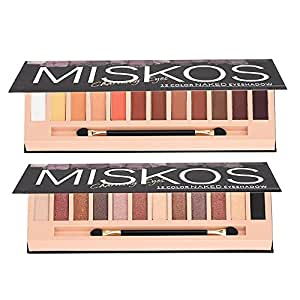 Amazon.com: 2 paletas de sombra de ojos de color nude, 12 ...