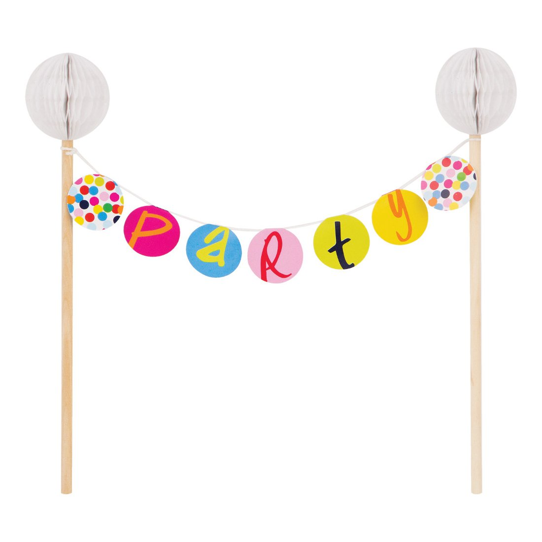 French Bull Birthday Dots- Cake Banner Topper by French Bull