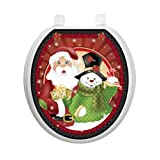 Polka Dot Christmas Toilet Tattoo TT-X631-R Round Winter Snow Holiday