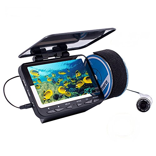 "Uphig Eyoyo 15m/49ft 4.3"" LCD Fish Finder Fishing Video Camera DVR Recording Sunshield Eyoyo Fish Finders And Other Electronics"