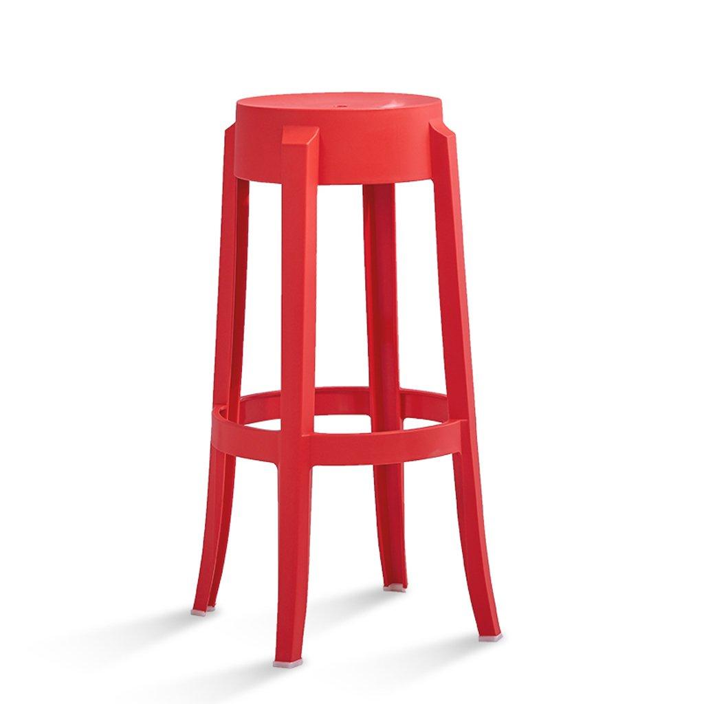 バースツール、プラスチックスツール、スツールキッチン朝食椅子、75cm * 29cm ( Color : Red ) B07CKJMBFZ Red Red