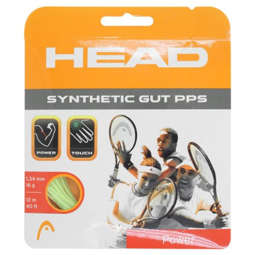 Head Synthetic Gut PPS Tennis String Set-17G Gold - 17g String Set