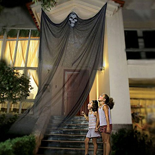 [7ft Halloween Decorations Scary Halloween Ghost Decorations Halloween Hanging Ghost Prop Halloween Hanging Skeleton Flying Ghost Halloween Hanging Decorations Clearancefor Yard Outdoor Indoor Party] (Halloween Decorations Ideas)