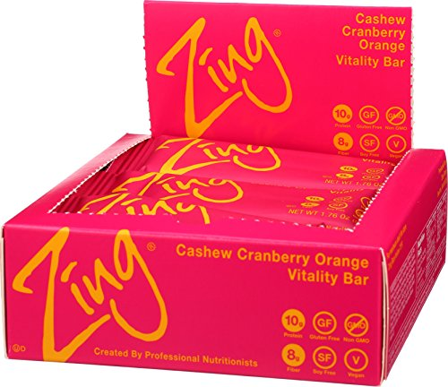 Zing Nutrition Bar, Cashew Cranberry Orange, (Pack of 12), Non-GMO Snack Bar for Optimum Energy, Gluten & Soy Free, Plant-Based Protein by Zing Bars (Image #4)