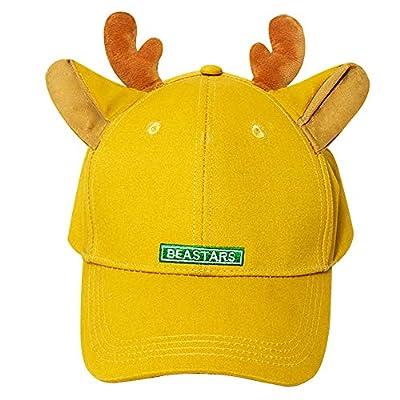Gankchen Beastars Louis Cosplay Basball Hat Louis Costume Dual Deer Ears Hats Snapback Caps Size Adjustable on The Back Orange Canvas Cap: Clothing