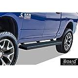 "iBoard Running Boards 6"" Matte Black Custom Fit 2009-2018 Ram 1500 Crew Cab Pickup 4Dr & 2010-2018 Ram 2500/3500 (Nerf Bars | Side Steps | Side Bars)"