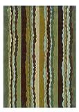 Linon Trio Collection Spa Blue, 5 x 7, Green