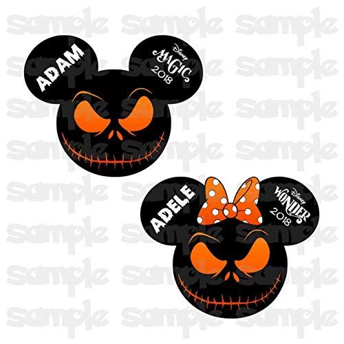 (Nightmare Before Christmas | Jack Skellington Magnet | Disney Halloween Cruise | Halloween on the High Seas | Halloween Disney Cruise Magnet | Family Magnet For Cruise)