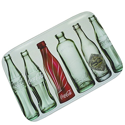 Funif Rectangle Non-slip Doormat Flannel Carpet Decorative Entry Rugs For Living Bath Room Bedroom - Coca Cola Empty Bottles 15.7