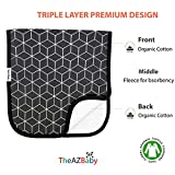 TheAZBaby Baby Burp Cloths for Boys and Girls 4