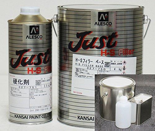 関西ペイント 2液 JUST H-S フィラー 5.8kgセット(シンナー硬化剤付)/自動車用ウレタン塗料 カンペ ウレタン 塗料 サフェーサー プラサフ B0784P8PJK 5.8 キログラム