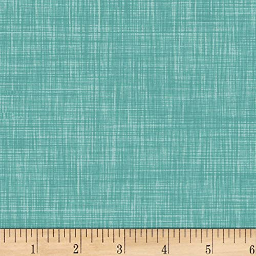 P & B Textiles Color Weave 4 Teal Fabric by The Yard -  204-CWE4-T