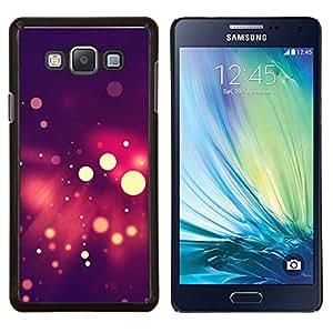 Qstar Arte & diseño plástico duro Fundas Cover Cubre Hard Case Cover para Samsung Galaxy A7 A7000 (Spots Bokeh púrpura)