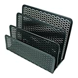 Artistic Urban Collection Punched Metal Letter Sorter, Black (ART20003)