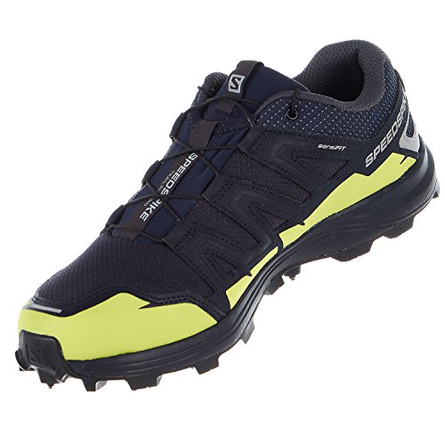 Salomon Speedspike CS Running Shoes - Navy Blazer, Reflective Silver, Lime Punch - Mens - 10 by Salomon (Image #5)