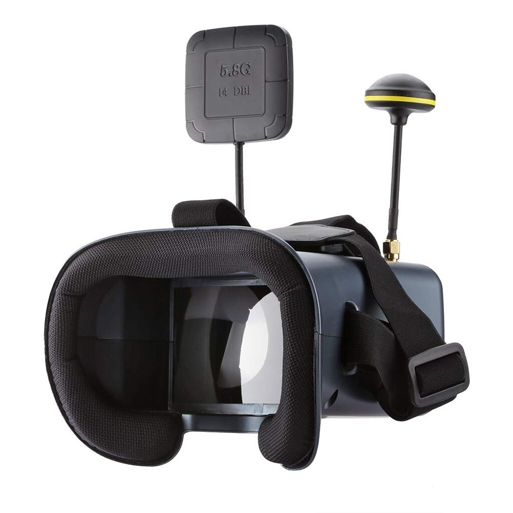 AOET AM3 LS-008D 4.3 inch 480 x 272 Pixel Display 5.8GHz 40CH FPV Goggles, Support TF Card & DVR by AOET