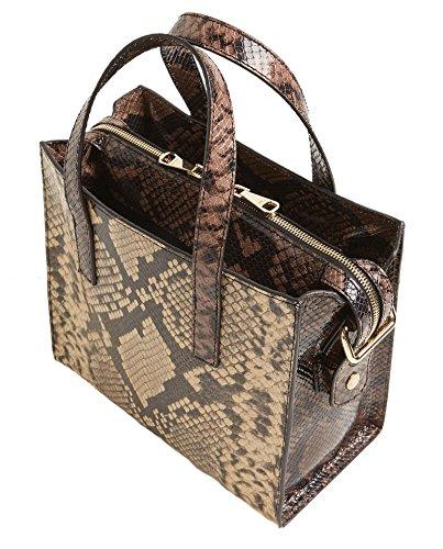 Uterque (Zara) Donna Shopper pelle tricolore 1549/700 ()