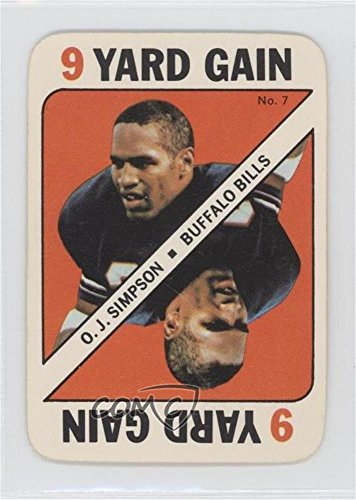 Football 1971 Card Topps (O.J. Simpson (Football Card) 1971 Topps Game Cards - [Base] #7)