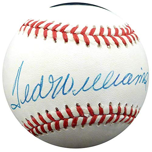 Ted Williams Signed Ball - Official AL Beckett BAS #A68596 - Beckett Authentication - Autographed Baseballs