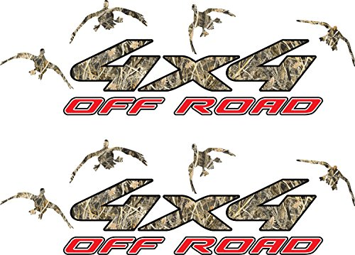 4x4 Truck Offroad Decal Cast Vinyl Tallgrass Duck Hunting Camo Decals Laminated 16x12 Inches