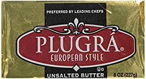 Plugra, Unsalted European-Style Butter Bar, 8 oz