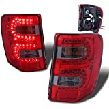 SPPC Red/Smoke LED Tail Lights For Jeep Grand Cherokee - Passenger and Driver Side