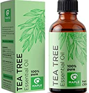 100% Pure Tea Tree Oil Natural Essential Oil with Antifungal Antibacterial Benefits For Face Skin Hair Nails H