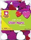 Foam Glitter Stickers 2-1/4-Ounce, Hearts