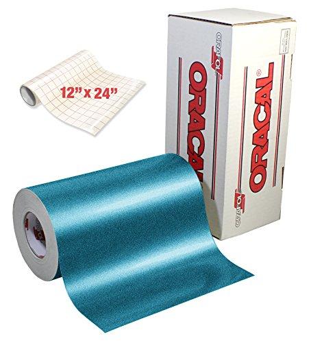 - ORACAL Turquoise Metallic Sparkle Premium Adhesive Craft Caste Vinyl 12