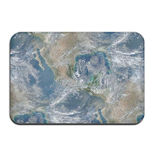 Luase Final Frontier Collection Blue Marble Doormat Floor Mat with Non-Slip Backing Bath Mat Rug Funny Home Decor Rug Carpets 23.6 x 15.7 Inches (Frontier Collection Rug)