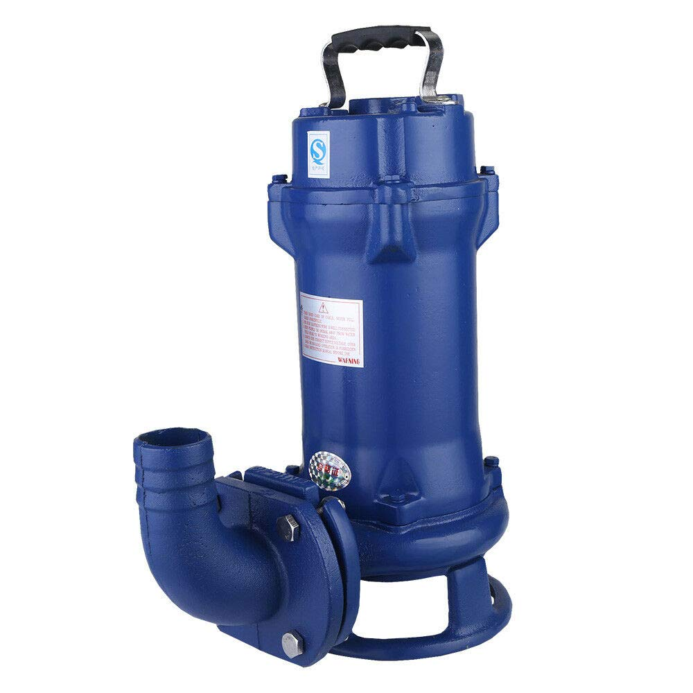 1.5HP Industrial Sewage Cutting Water Pump,Submersible Sewage Dirty Pump,Sewage Water Pump Sewage Discharge Spiral Structure Easy-disassembled Cutter by DONSU