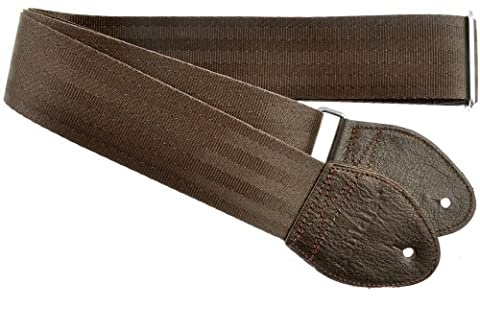 Souldier Custom GS0000BR04DB Recycled Seatbelt Acoustic Guitar Strap, Brown (Hippie Acoustic Guitar)