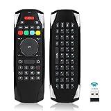 [IR Learning Buttons] Air Remote Mouse Mini Keyboard Media keypad,2.4GHz Wireless USB Remote Control for Roku TV,Mac mini,Windows XP 7 10,Fire TV Box,Android TV Box,Kodi Box,Raspberry Pi 3,HTPC,Linux