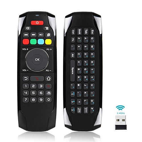 [IR Programmable] Air Remote Mouse Mini Keyboard Home Media Smart Remote Control,2.4GHz Wireless USB Compact Keyboard for Vehicle TV,Windows XP 7 10,Android TV Box,Kodi Box,Raspberry Pi 3,HTPC,Laptop