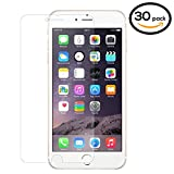 30PK - SOJITEK iPhone 7, 8 PLUS Premium Japanese Ballistic Tempered Glass Screen Protector NO retail package - Clear Clarity & Touchscreen Accuracy Smart Film 0.33mm - Bulk/ Wholesale Screen Protector