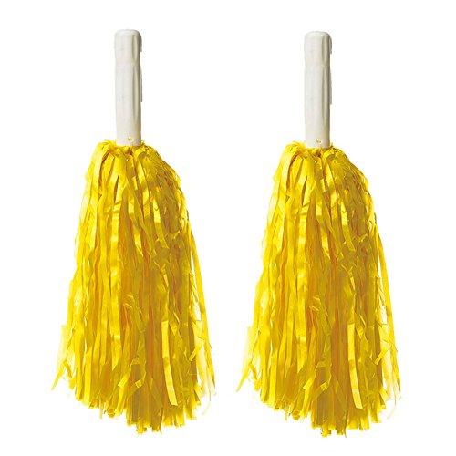 30 Cm De Long En Plastique Cheerleading Poms (paire), Jaune