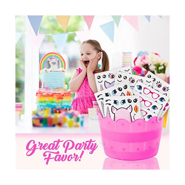 Edgewood Toys 24 Make A Unicorn Stickers for Kids - Great Unicorn Theme Birthday Party Favors - Fun Craft Project for… 6