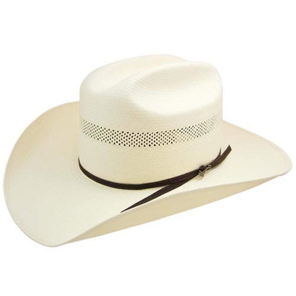 Stetson Cinch Western Straw Cowboy Hat Size 7 5//8 R Oval 4 Brim