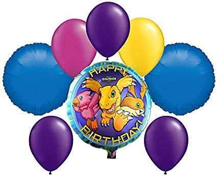 Amazon.com: Digimon Cumpleaños Mylar y ramo de globos de ...
