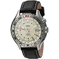[Sponsored]Timex Men's TWH4Z4510 Intelligent Quartz 3-GMT Black Leather Strap Watch